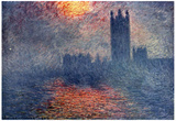 Claude Monet (The Parliament in London) Art Poster Print Posters