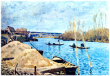 Alfred Sisley Seine at Port Marly Art Print Poster Prints