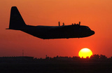 C-130 Hercules (Take Off in Sunset) Art Poster Print Masterprint