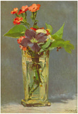 Edouard Manet Carnations and Clematis in a Crystal Vase Art Print Poster Photo