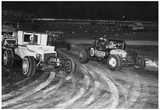 Dirt Track Racing 1964 Archival Photo Poster Poster