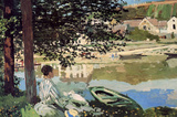 Claude Monet Seine Bank at Vethueil Art Print Poster Masterprint