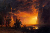 Albert Bierstadt Sunrise in Yosemite Valley Art Print Poster Masterprint