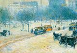 Childe Hassam Winter in Union Square Art Print Poster Masterprint