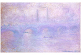 Claude Monet (Waterloo Bridge, Fog Effect) Art Poster Print Posters