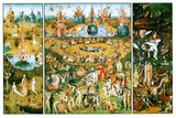 Hieronymus Bosch Garden of Earthly Delights Art Poster Print Masterprint