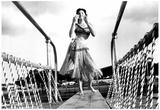 Aqua Belles Girl in Hula Skirt Archival Photo Poster Photo