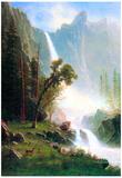 Albert Bierstadt Yosemite Falls Art Print Poster Posters
