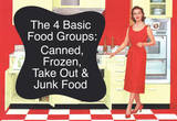 4 Basic Food Groups Canned Frozen Take Out Junk Funny Art Poster Print Masterprint