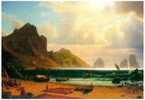 Albert Bierstadt Marina Piccola Capri Art Print Poster Posters