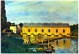Alfred Sisley Machine House of the Pump in Marly Art Print Poster Posters