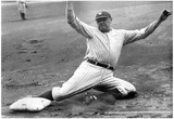 Babe Ruth Sliding Archival Photo Poster Print Print