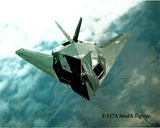 F-117A Stealth Fighter Art Print Poster Plane War Posters