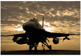 F-16C Fighting Falcon (Sunrise) Art Poster Print Prints