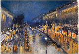 Camille Pissarro The Boulevard Montmartre Art Print Poster Posters