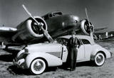 Amelia Earhart with Plane and Car Archival Photo Poster Print Masterprint