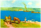 Alfred Sisley River Bank Art Print Poster Posters