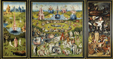 Hieronymus Bosch (The Garden of Earthly Delights Panel) Art Poster Print Photo