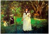 Berthe Morisot Butterfly Hunting Art Print Poster Prints