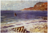 Claude Monet Sailing at Sainte-Adresse Art Print Poster Posters