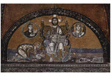Byzantine Mosaizist of the 9th Century (Mosaics in the Hagia Sophia, Szene: Christus Pantokrator an Prints