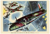 British Bombers Have Carried Out Over 1600 Raids on Germany WWII War Propaganda Art Poster Prints