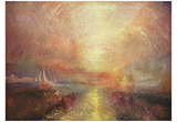 Joseph Mallord William Turner (A yacht approaching the Arts) Art Poster Print Billeder