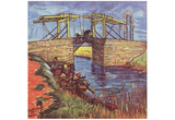 Vincent Van Gogh (Le Pont de l&#39;Anglois) Art Poster Print Posters