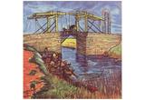 Vincent Van Gogh (Le Pont de l'Anglois) Art Poster Print Posters