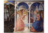Fra Angelico (Annunciation to Mary, Altarretabel with 5 Predellatafeln from the living Marie, main Posters