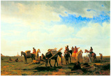 Albert Bierstadt Indians Near Fort Laramie Art Print Poster Print
