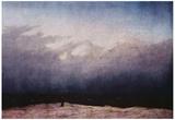Caspar David Friedrich (Monk by the sea) Art Poster Print Plakater