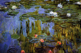Claude Monet Water-Lilies 3 Art Print Poster Masterprint