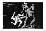 Boris Artzybasheff Robot vs Nazi WWII War Propaganda Art Print Poster Print