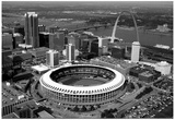 Busch Stadium Aerial St Louis Archival Photo Sports Poster Affiches