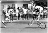 BMX Kids and Crowd 1987 Archival Photo Poster Posters