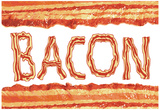Bacon Flag Art Poster Print Prints