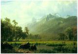 Albert Bierstadt The Sierra Near Lake Tahoe California Art Print Poster Prints