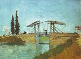 Vincent Van Gogh (The Langlois Bridge at Arles) Art Poster Print Masterprint