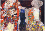 Gustav Klimt Adorn the Bride with Veil and Wreath Art Print Poster Posters