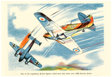 Magnificent British Fighters Have Shot Down Over 3000 German Planes WWII War Propaganda Poster Poster
