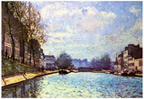 Alfred Sisley View of Channel Saint Martin in Paris Art Print Poster Posters