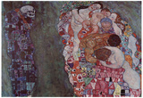 Gustav Klimt (Life and Death) Art Poster Print Posters