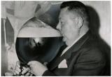 Auguste Maffrey, Fransk mester i øldrikning 1955, arkivfoto, plakat Poster