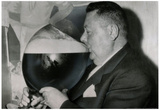 Auguste Maffrey,  Campeón francés de beber cerveza 1955, foto de archivo, póster lámina Póster