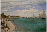 Claude Monet Regatta at Saint-Adresse Art Print Poster Prints