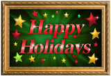 Happy Holidays Faux Framed Poster Poster
