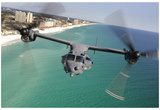 CV-22 (Flying over Florida) Art Poster Print Prints