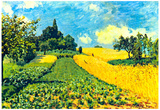 Alfred Sisley Grain Fields on Hills of Argenteuil Art Print Poster Posters