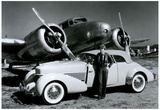 Amelia Earhart with Plane and Car Archival Photo Poster Print Prints